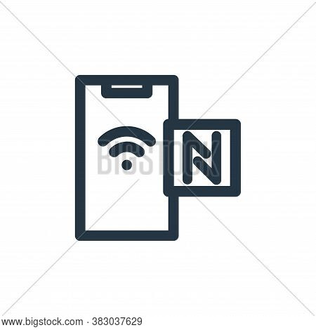 nfc icon isolated on white background from technology collection. nfc icon trendy and modern nfc sym