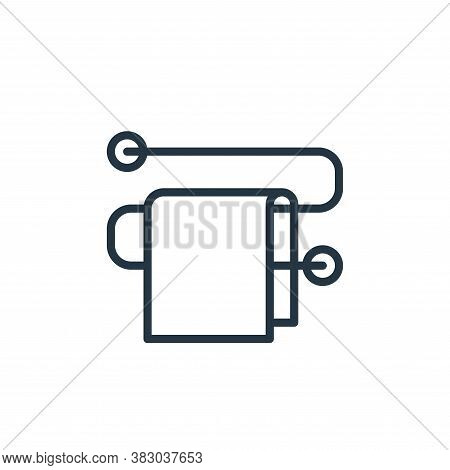 towel rack icon isolated on white background from bathroom accessories collection. towel rack icon t