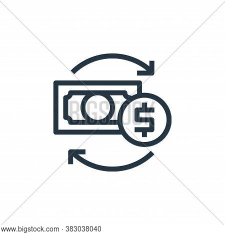 conversion icon isolated on white background from business and money collection. conversion icon tre
