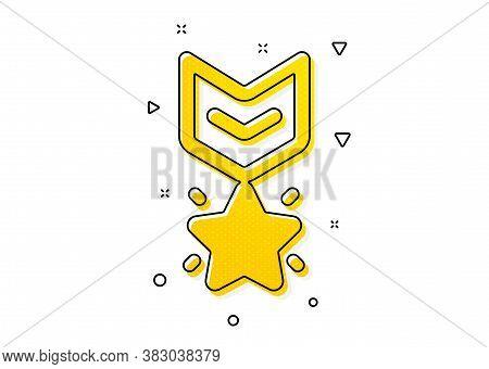 Ranking Star Sign. Winner Medal Icon. Best Rank Symbol. Yellow Circles Pattern. Classic Winner Medal