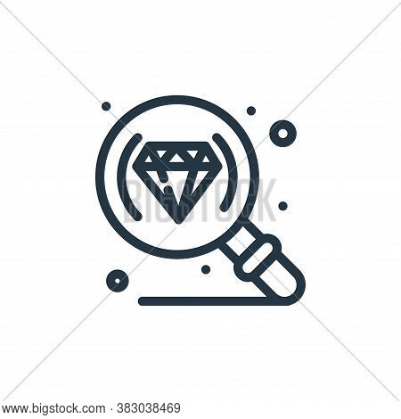 search icon isolated on white background from jewellery collection. search icon trendy and modern se