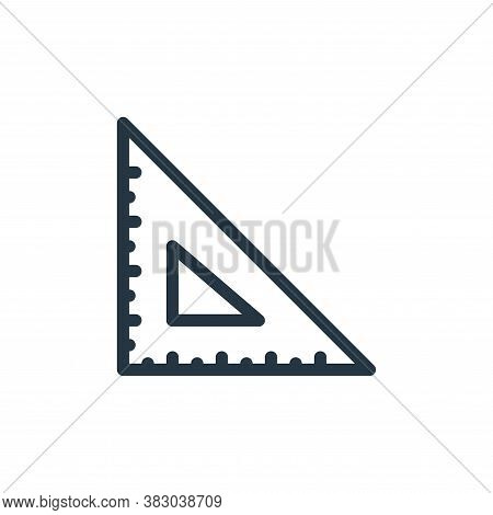 ruler icon isolated on white background from school collection. ruler icon trendy and modern ruler s