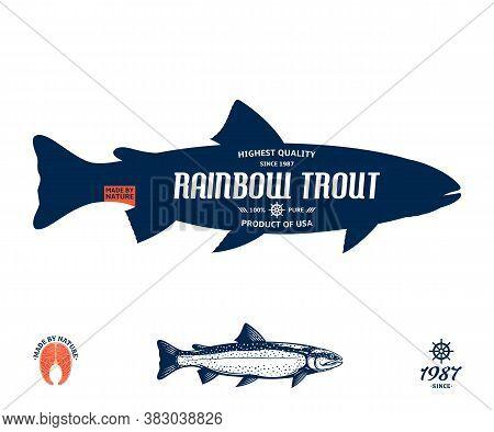 Vector Rainbow Trout Label