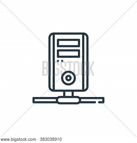 isp icon isolated on white background from cyber security collection. isp icon trendy and modern isp