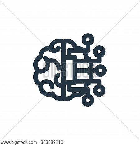 artificial intelligence icon isolated on white background from technology collection. artificial int