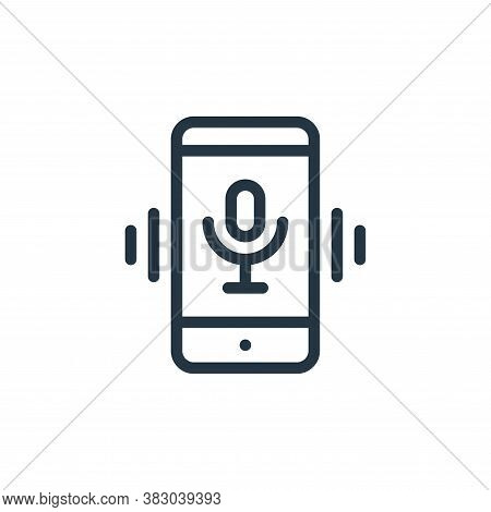 voice assistant icon isolated on white background from smarthome collection. voice assistant icon tr