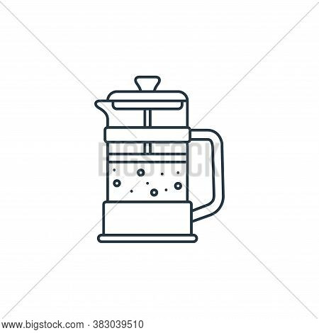 french press icon isolated on white background from coffee shop collection. french press icon trendy
