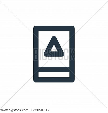alert symbol icon isolated on white background from security collection. alert symbol icon trendy an