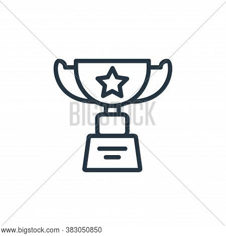 award icon isolated on white background from online learning part line collection. award icon trendy