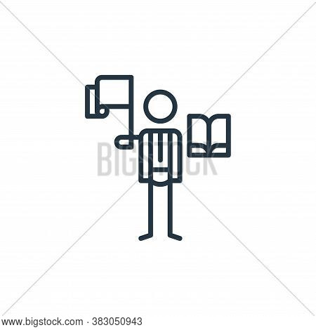 politics icon isolated on white background from arts collection. politics icon trendy and modern pol