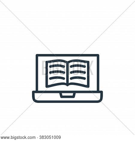 digital book icon isolated on white background from online learning part line collection. digital bo
