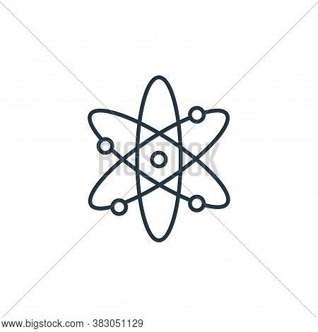 atom icon isolated on white background from school collection. atom icon trendy and modern atom symb