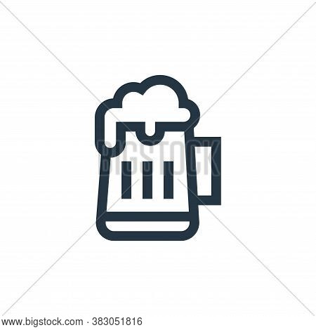 beer icon isolated on white background from celebration collection. beer icon trendy and modern beer
