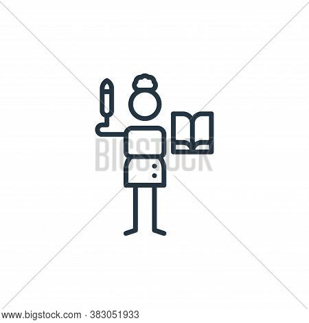 literature icon isolated on white background from arts collection. literature icon trendy and modern
