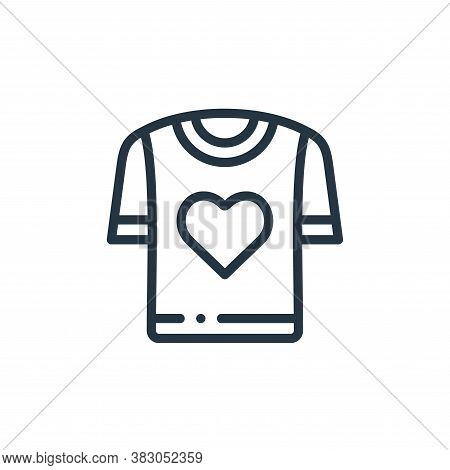 t shirt icon isolated on white background from charity collection. t shirt icon trendy and modern t