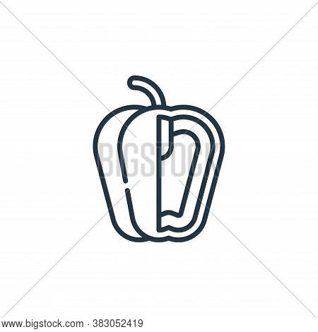 Bell pepper icon isolated on white background from food and drinks allergy collection. Bell pepper i