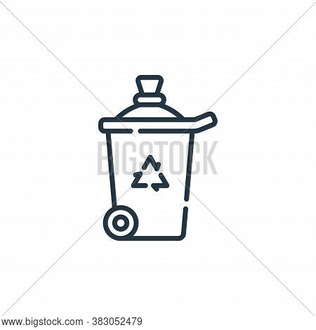 trash can icon isolated on white background from hygiene routine collection. trash can icon trendy a