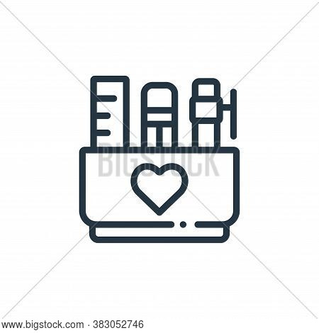 stationery icon isolated on white background from charity collection. stationery icon trendy and mod