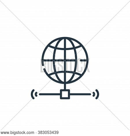 internet icon isolated on white background from smart city collection. internet icon trendy and mode