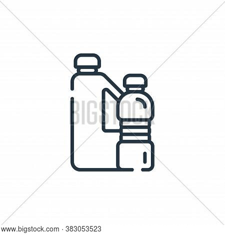 plastic bottle icon isolated on white background from ecology collection. plastic bottle icon trendy