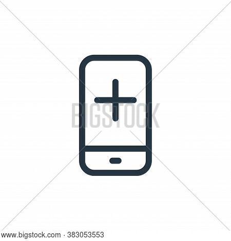smartphone icon isolated on white background from medicine collection. smartphone icon trendy and mo