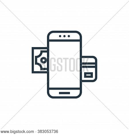 mobile banking icon isolated on white background from banking collection. mobile banking icon trendy