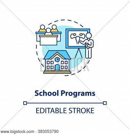 School Programs Concept Icon. Sexual Education Idea Thin Line Illustration. Studying Human Physiolog
