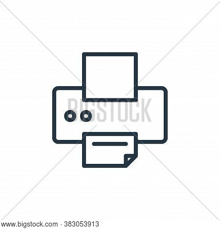 printer icon isolated on white background from office collection. printer icon trendy and modern pri
