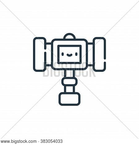 hammer icon isolated on white background from videogame elements collection. hammer icon trendy and