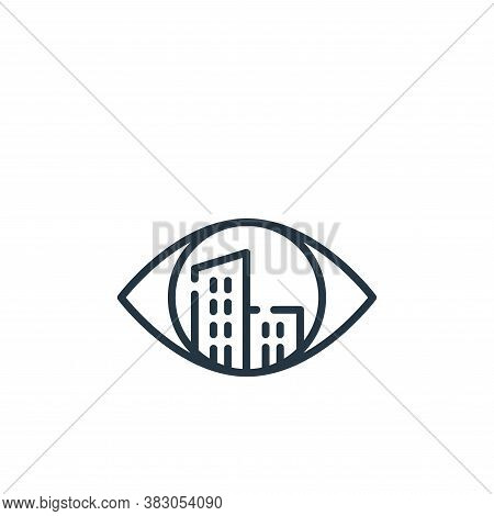 vision icon isolated on white background from smart city collection. vision icon trendy and modern v