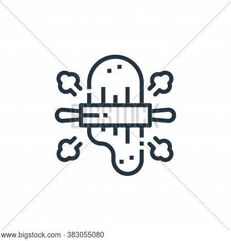 rolling pin icon isolated on white background from cooking collection. rolling pin icon trendy and m