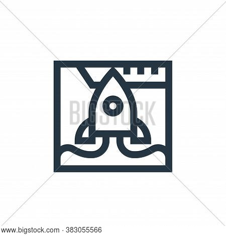 startup icon isolated on white background from web maintenance collection. startup icon trendy and m