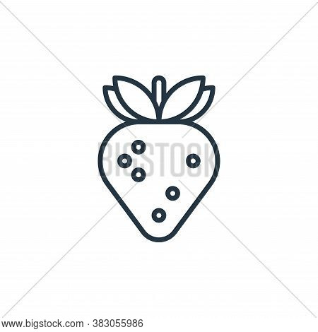 strawberry icon isolated on white background from food and drinks allergy collection. strawberry ico