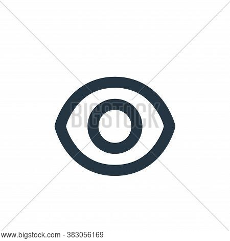 eye symbol icon isolated on white background from security collection. eye symbol icon trendy and mo