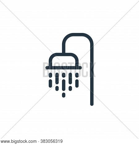 shower icon isolated on white background from daily life wake up collection. shower icon trendy and