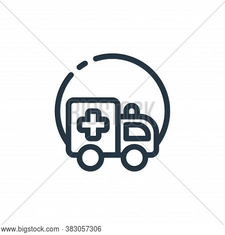 ambulance icon isolated on white background from hospital collection. ambulance icon trendy and mode