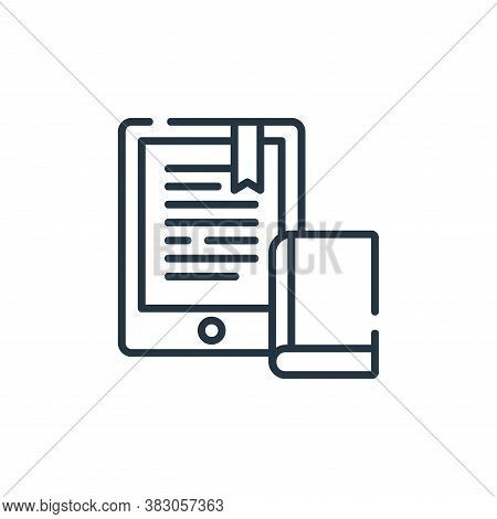 ebook icon isolated on white background from digital learning collection. ebook icon trendy and mode