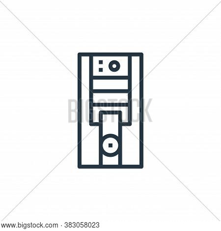 computer icon isolated on white background from computer hardware collection. computer icon trendy a