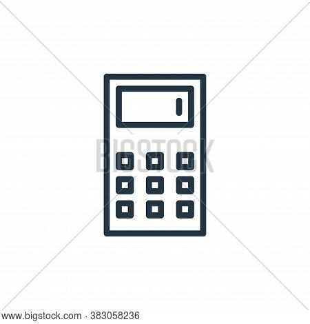 calculator icon isolated on white background from working in the office collection. calculator icon