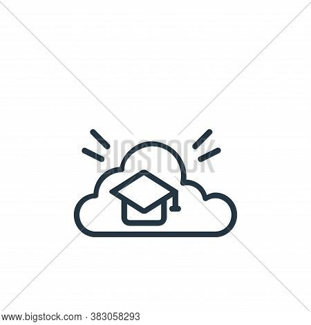 education icon isolated on white background from online learning part line collection. education ico