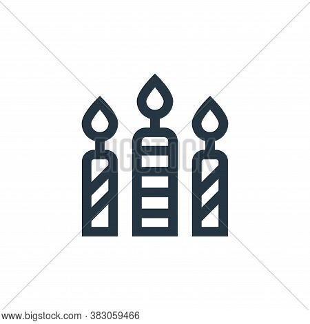 candles icon isolated on white background from celebration collection. candles icon trendy and moder