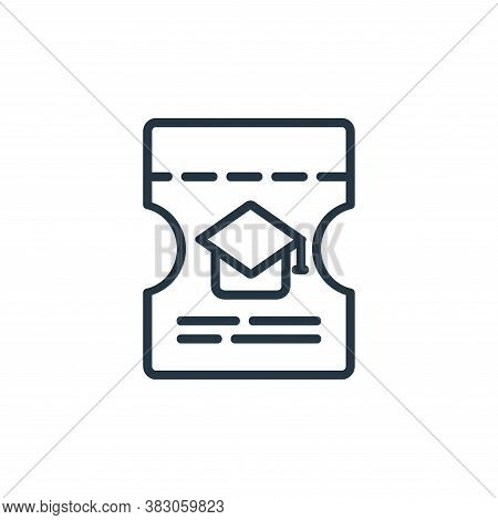 invitation icon isolated on white background from online learning part line collection. invitation i