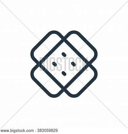 bandage icon isolated on white background from medicine collection. bandage icon trendy and modern b