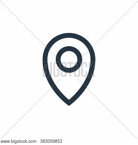 pin icon isolated on white background from basic ui collection. pin icon trendy and modern pin symbo