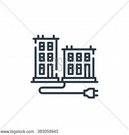 smart icon isolated on white background from smart city collection. smart icon trendy and modern sma