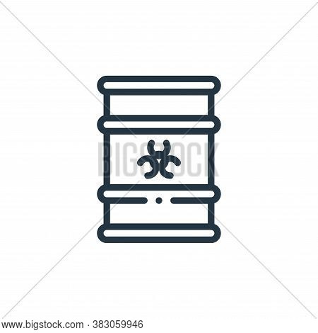 biohazard icon isolated on white background from laboratory collection. biohazard icon trendy and mo