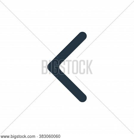 back icon isolated on white background from interface essentials collection. back icon trendy and mo