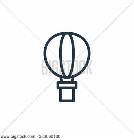 air balloon icon isolated on white background from summer collection. air balloon icon trendy and mo