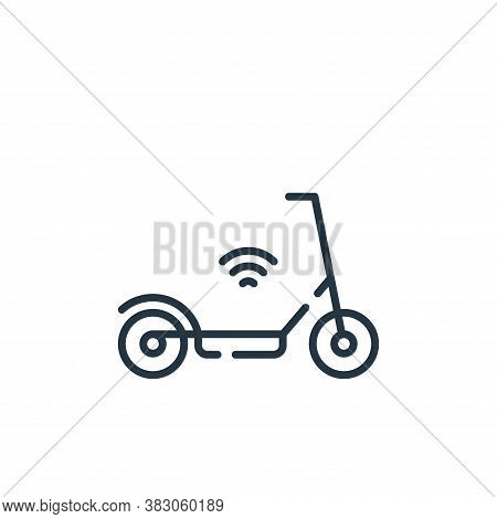 electric scooter icon isolated on white background from smart city collection. electric scooter icon