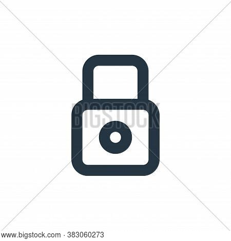 lock icon isolated on white background from security collection. lock icon trendy and modern lock sy